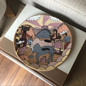 Mexican Hand Painted Terra Cotta Trinket Dish